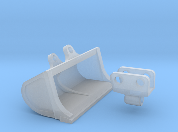 1:87 Cat 315C Tilt grading bucket in Smooth Fine Detail Plastic