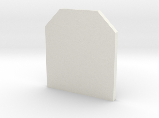 Deranged LCO protector template in White Natural Versatile Plastic