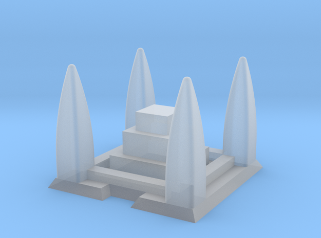 Shrine / Temple 2mm/3mm Game Scale in Smooth Fine Detail Plastic