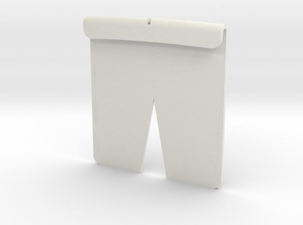 Tesla Hood Emblem Template in White Natural Versatile Plastic