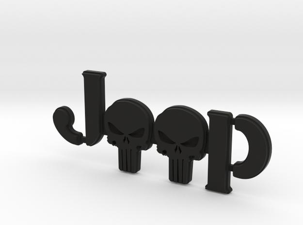 #CuzitsCustom 2.5D Punisher Skulls (SM-Willy's) in Black Natural Versatile Plastic