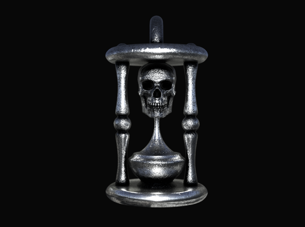 Skull of Time Pendant in Antique Silver