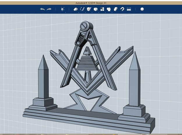 Masonic Display Piece Medium in Stainless Steel