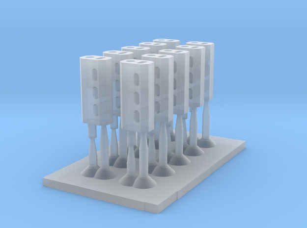 Space Warrior Silencer (10pcs) in Smooth Fine Detail Plastic