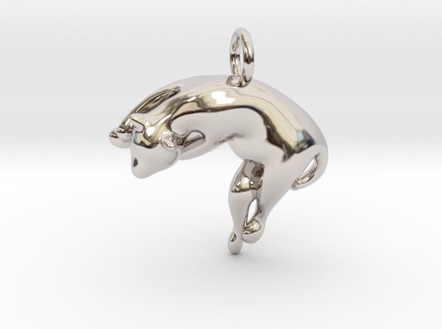 cat_018 in Rhodium Plated Brass