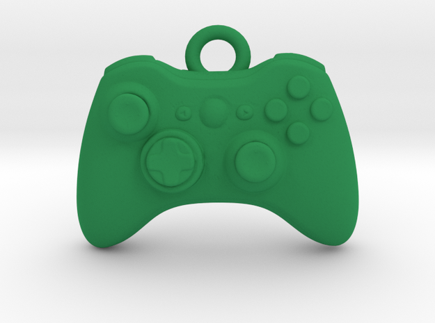 Xbox Controller Pendant necklace all materials in Green Processed Versatile Plastic
