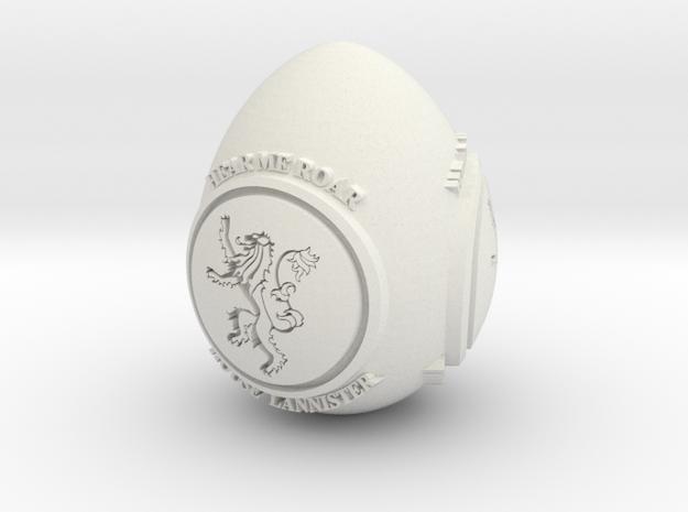 GOT House Lannister Easter Egg in White Natural Versatile Plastic