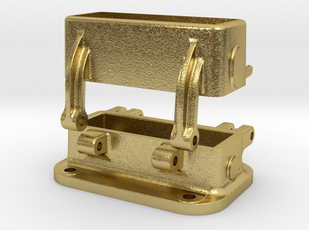 Gehäuse, Winkelspiegel / Housing Periscope in Natural Brass