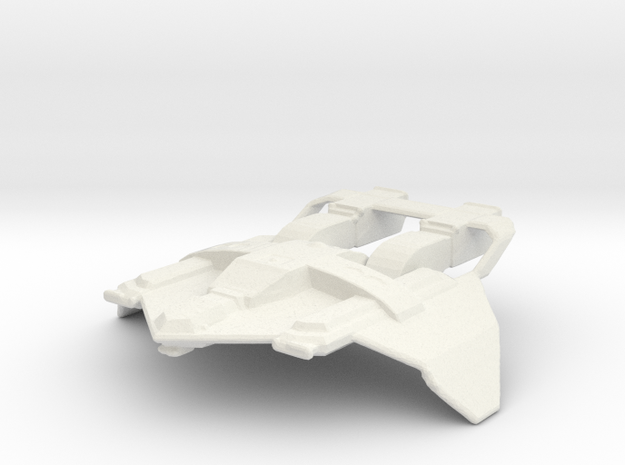 Federation Fighter in White Natural Versatile Plastic