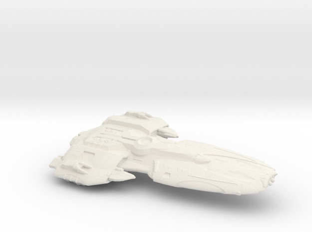 Federation Frigate in White Natural Versatile Plastic