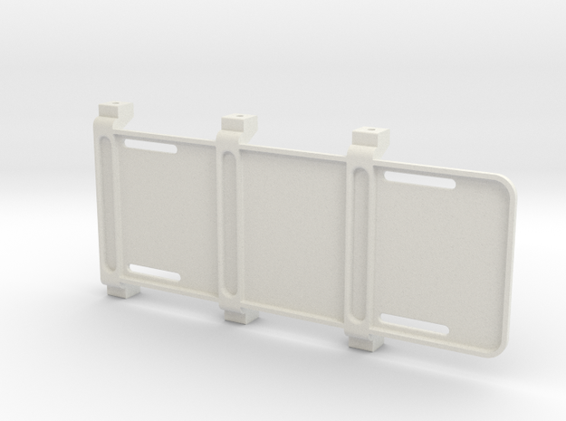 SCX10 I+II Battery Tray in White Natural Versatile Plastic