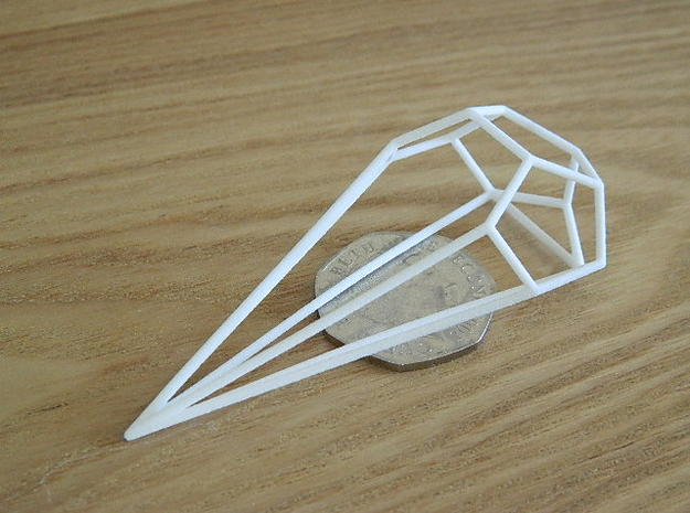 Anaconda Wireframe 1-600 in White Natural Versatile Plastic