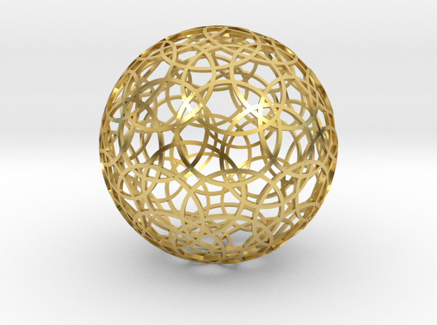 60 circle sphere in Polished Brass