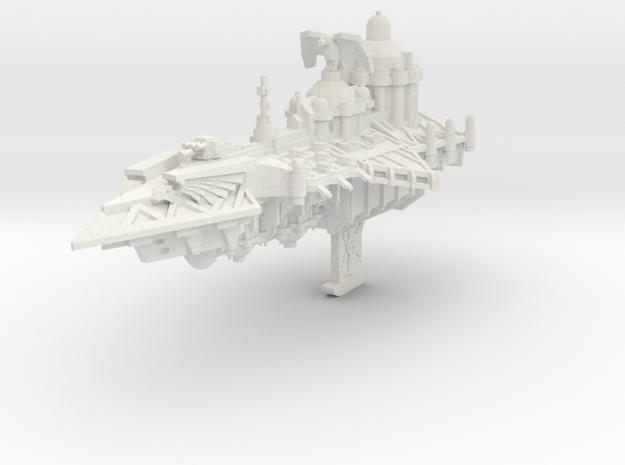 Crucero del Adeptus Custodes A in White Natural Versatile Plastic