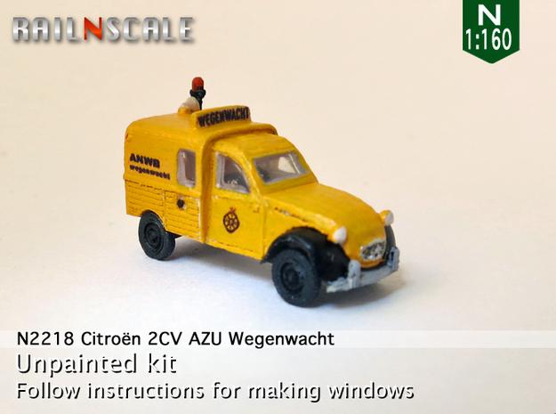 Citroën 2CV AZU Wegenwacht (N 1:160) in Frosted Ultra Detail