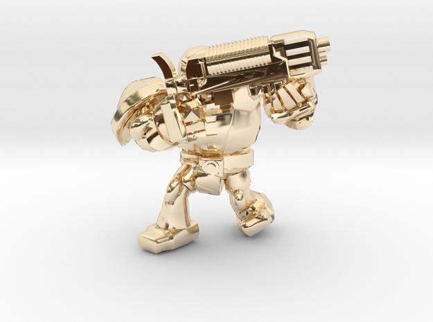 SPACEMARINER PLASMAGUN in 14k Gold Plated Brass