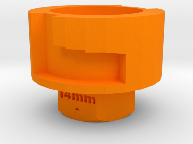 Nerf Muzzle to Airsoft Barrel Adapter (14mm-)