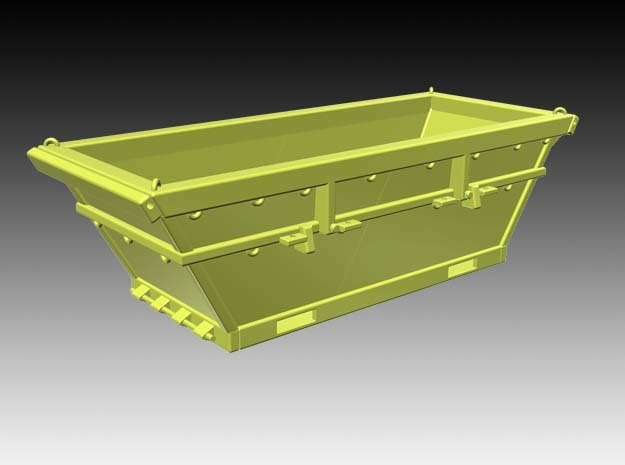 8 m3 offshore waste skip - 1:50 in White Natural Versatile Plastic