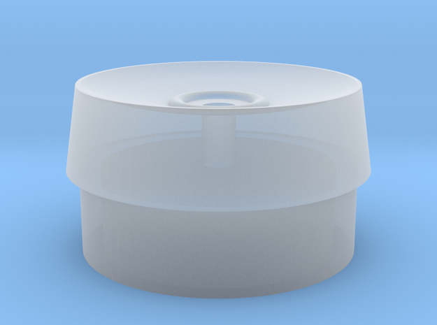1/1000 Deflector Dish mod with hole for Dish in Smooth Fine Detail Plastic