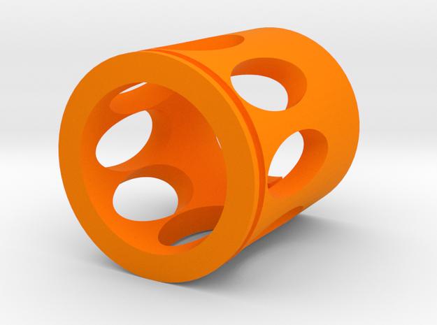 Rex Muzzle Flash Hider for Nerf Modulus in Orange Processed Versatile Plastic