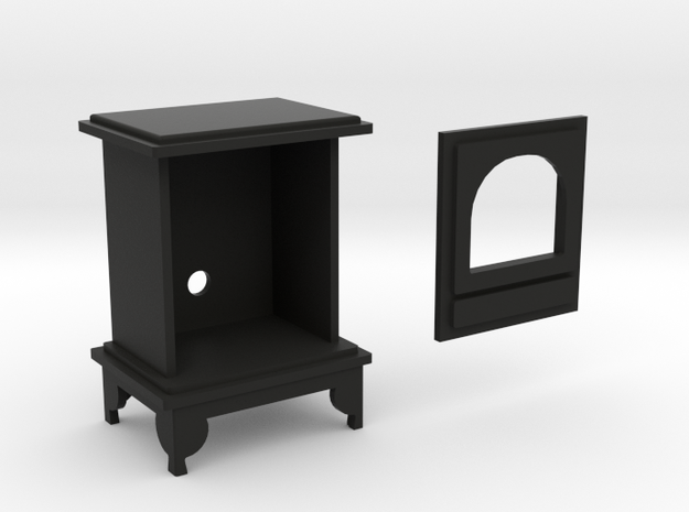 1:12 scale Woodburning Stove in Black Natural Versatile Plastic