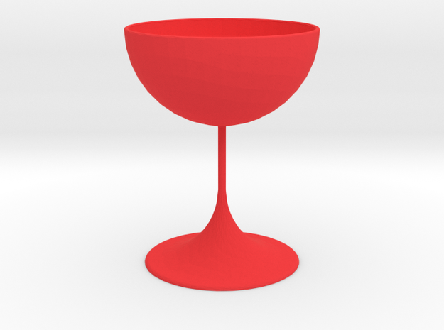 Silver Cup in Red Processed Versatile Plastic