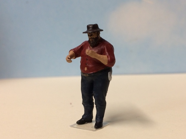 William Missing a Button in Smoothest Fine Detail Plastic: 1:64 - S