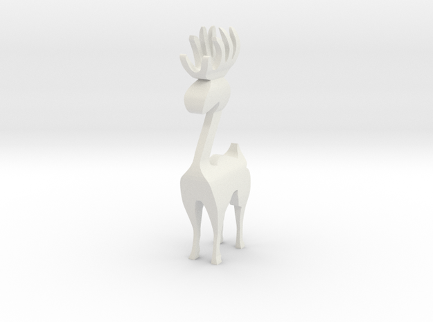 Reindeer figure (scrollsaw/bandsaw) in White Natural Versatile Plastic: Medium