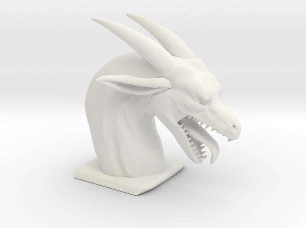 Greedy dragon gaping maw in White Natural Versatile Plastic