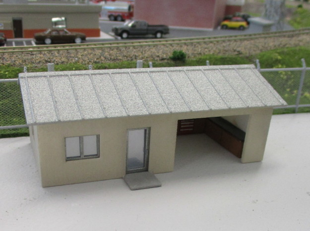 Shop Building in White Natural Versatile Plastic: 1:87 - HO