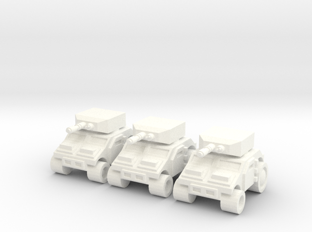 High Mobility Tank in White Processed Versatile Plastic