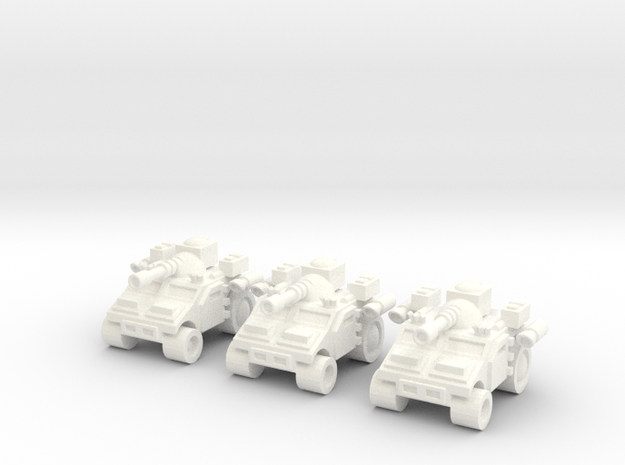Multi Role High Mobility Vehicle in White Processed Versatile Plastic