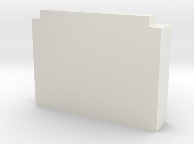Quad AM3 Bezel in White Natural Versatile Plastic