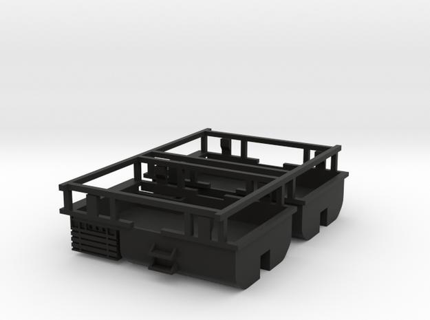 2 pieces reservoir et coffre a batteries couvercle in Black Natural Versatile Plastic: 1:87 - HO