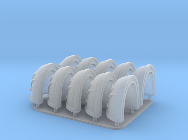Kill Team  Shoulderpads 10x 40k in Smooth Fine Detail Plastic