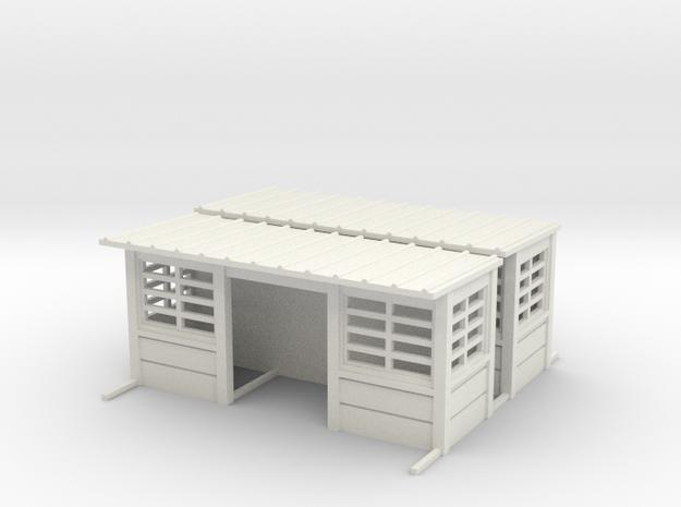 Abris de quais beton sncb HO 2 piece in White Natural Versatile Plastic: 1:87 - HO