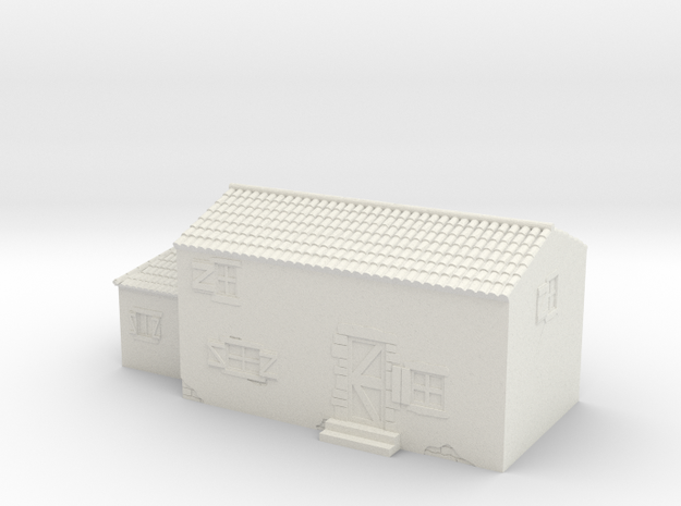 Italian style house 1/100 in White Natural Versatile Plastic