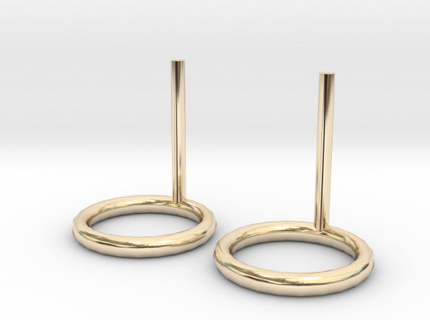 10mm circle earrings in 14K Yellow Gold