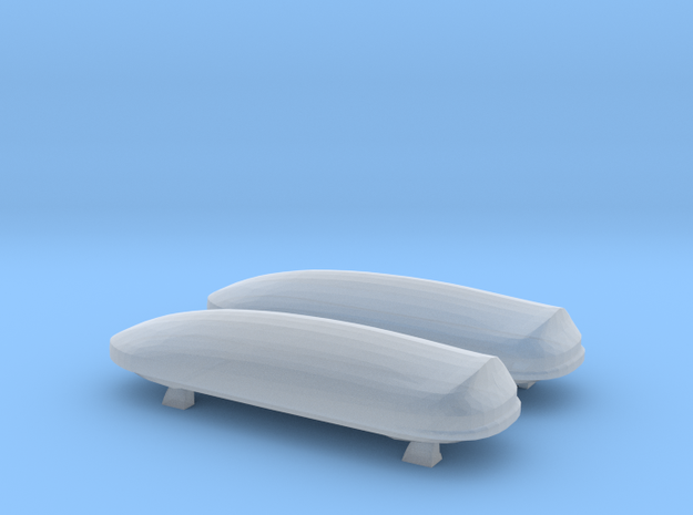 Dual Thule Roof Cargo Boxes in Smooth Fine Detail Plastic