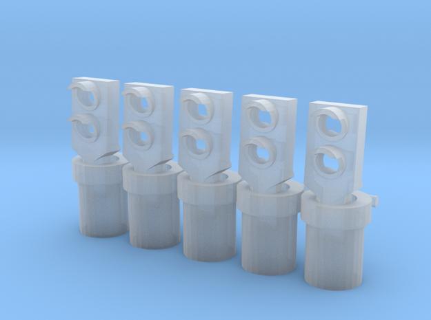 fleur de sol SNCB MNSB 2 couleurs 5 pièces in Smooth Fine Detail Plastic: 1:87 - HO