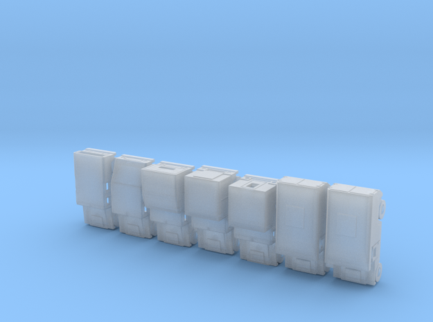 1/160 Humvee set of 7 simple models in Smooth Fine Detail Plastic