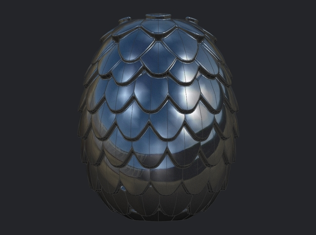 Dragon Egg Game of Thrones Pandora Charm in Polished Nickel Steel