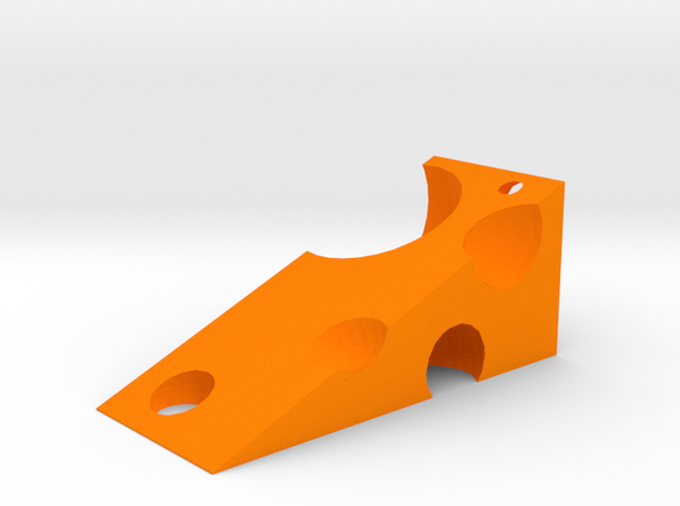 Cheese Wedge in Orange Processed Versatile Plastic
