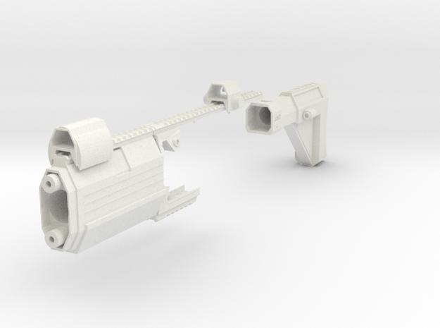 Laser Pulse Rifle Kit for Nerf Stryfe in White Natural Versatile Plastic