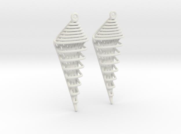 Earring 21.20 in White Natural Versatile Plastic