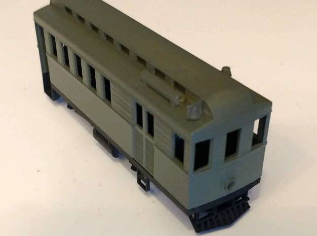 Hon30 Coffee Creek Motor Passenger Car Body in Smooth Fine Detail Plastic