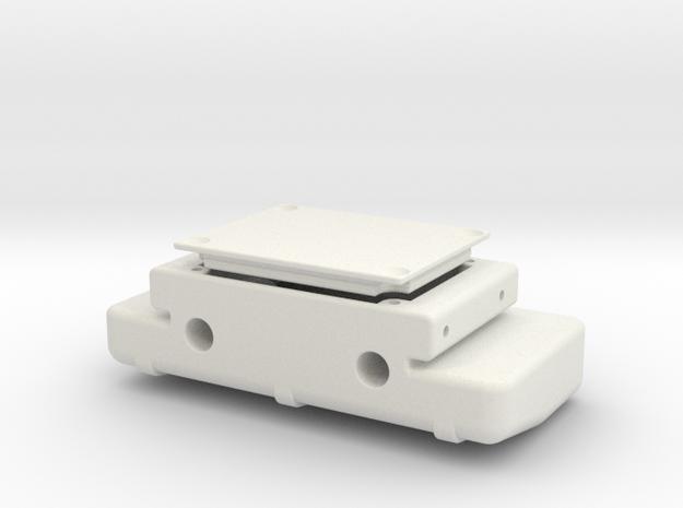 CFX-W rear cross member fuel tank - Axial bumber f in White Natural Versatile Plastic