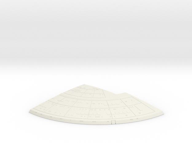 1/1400 Ambassador proposal Left Upper Saucer (Back in White Natural Versatile Plastic