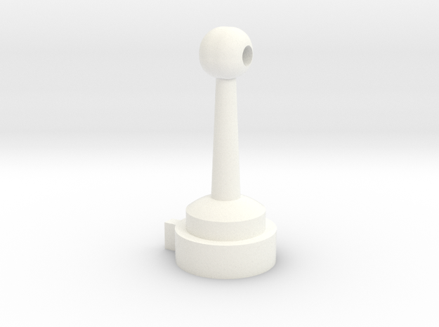 1/1000 Planetary Sensor Array/Delfector Mod Classi in White Processed Versatile Plastic