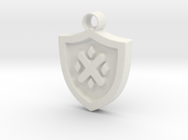 Frollo Coat of Arms pendant in White Natural Versatile Plastic